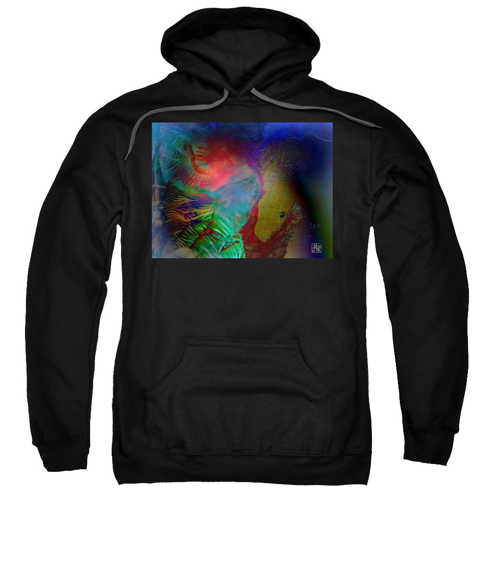 Surrealism Sweatshirt featuring the digital art Topology Of Decalcomania by Otto Rapp