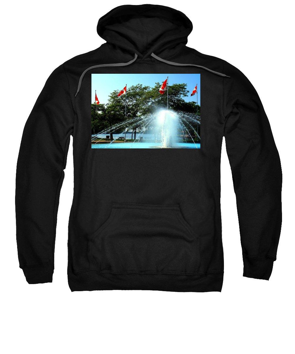 Toronto Sweatshirt featuring the photograph Toronto Island Fountain by Ian MacDonald