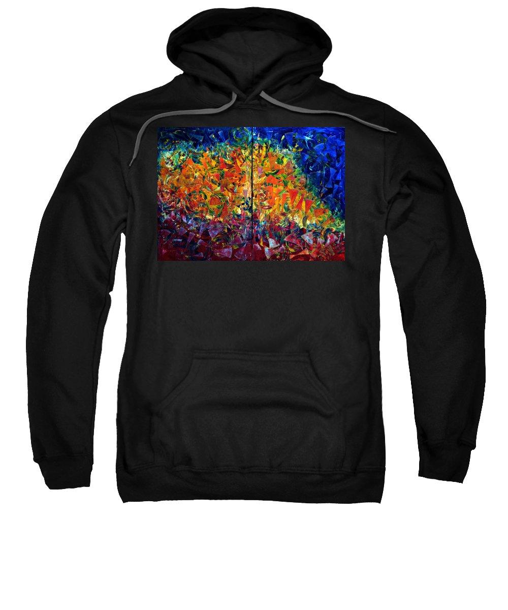 Sweatshirt featuring the photograph Tour De Babel by Michelle Deschenes