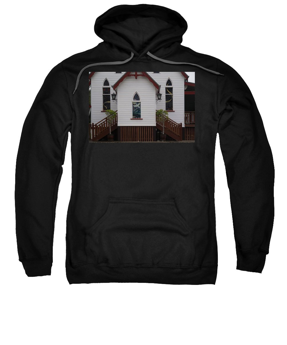Australia Queensland Qld Sweatshirt featuring the digital art Town Church by Carol Ailles