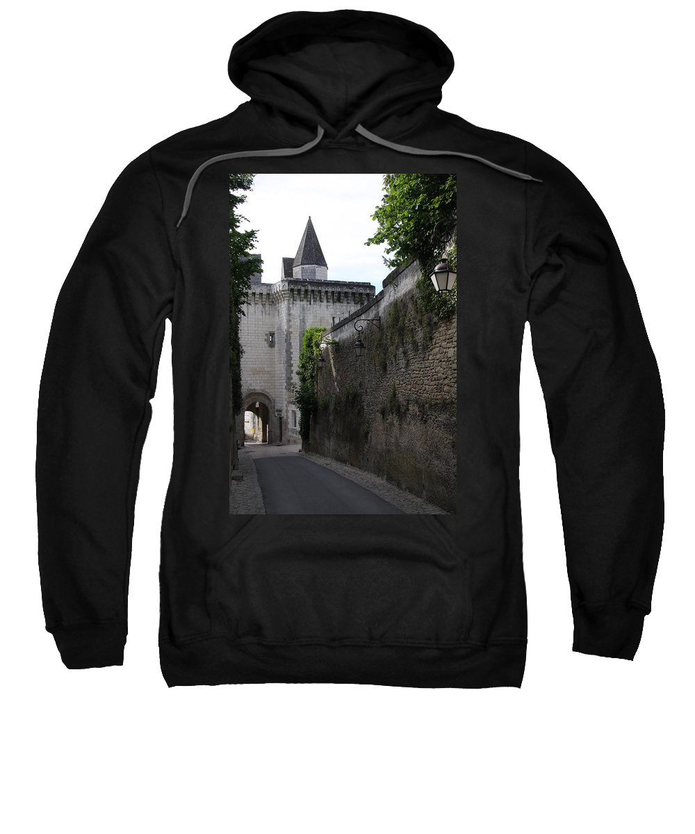 Town Gate Sweatshirt featuring the photograph Town Gate - Loches - France by Christiane Schulze Art And Photography