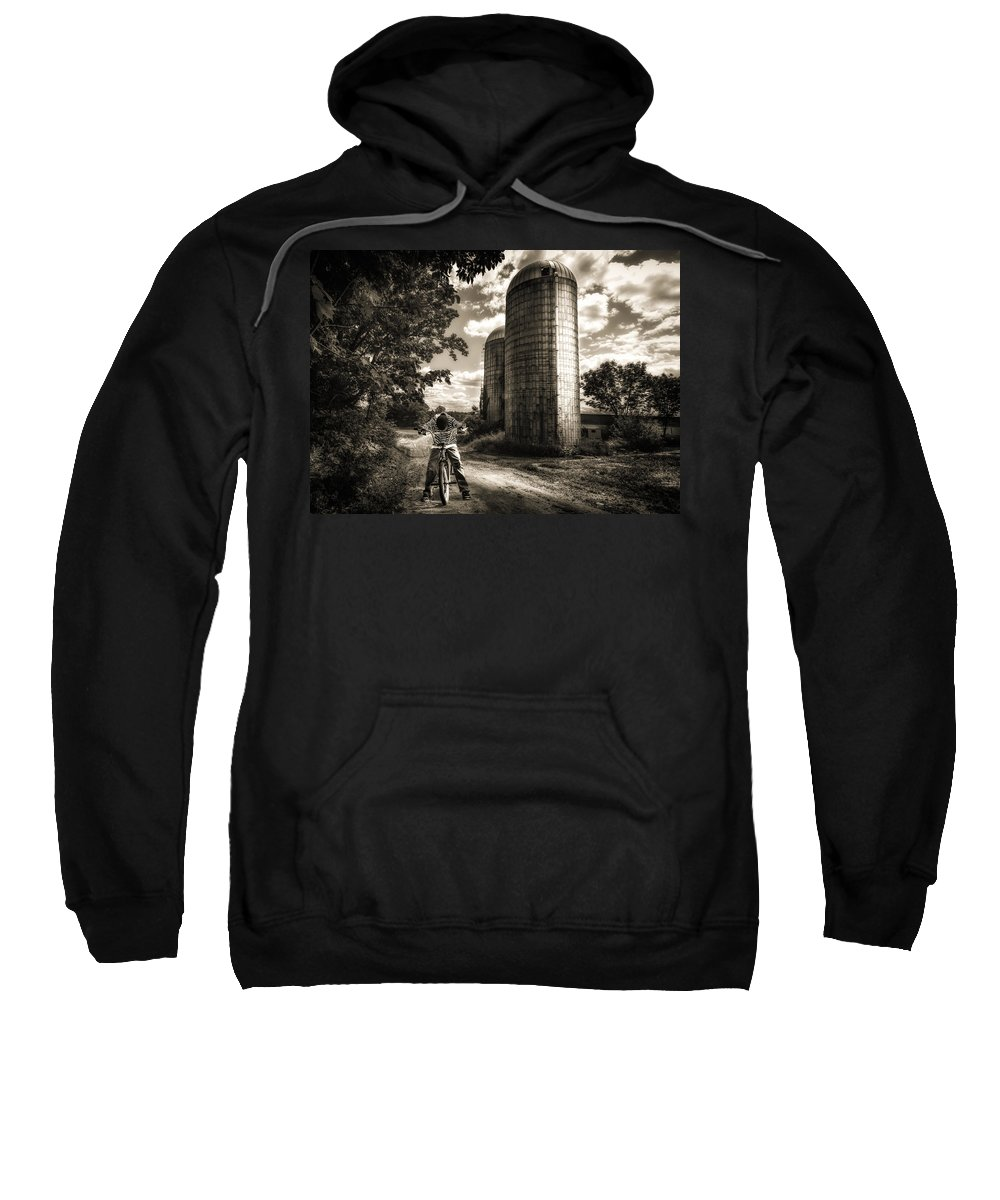 Landscape Sweatshirt featuring the photograph Town Line by Bob Orsillo