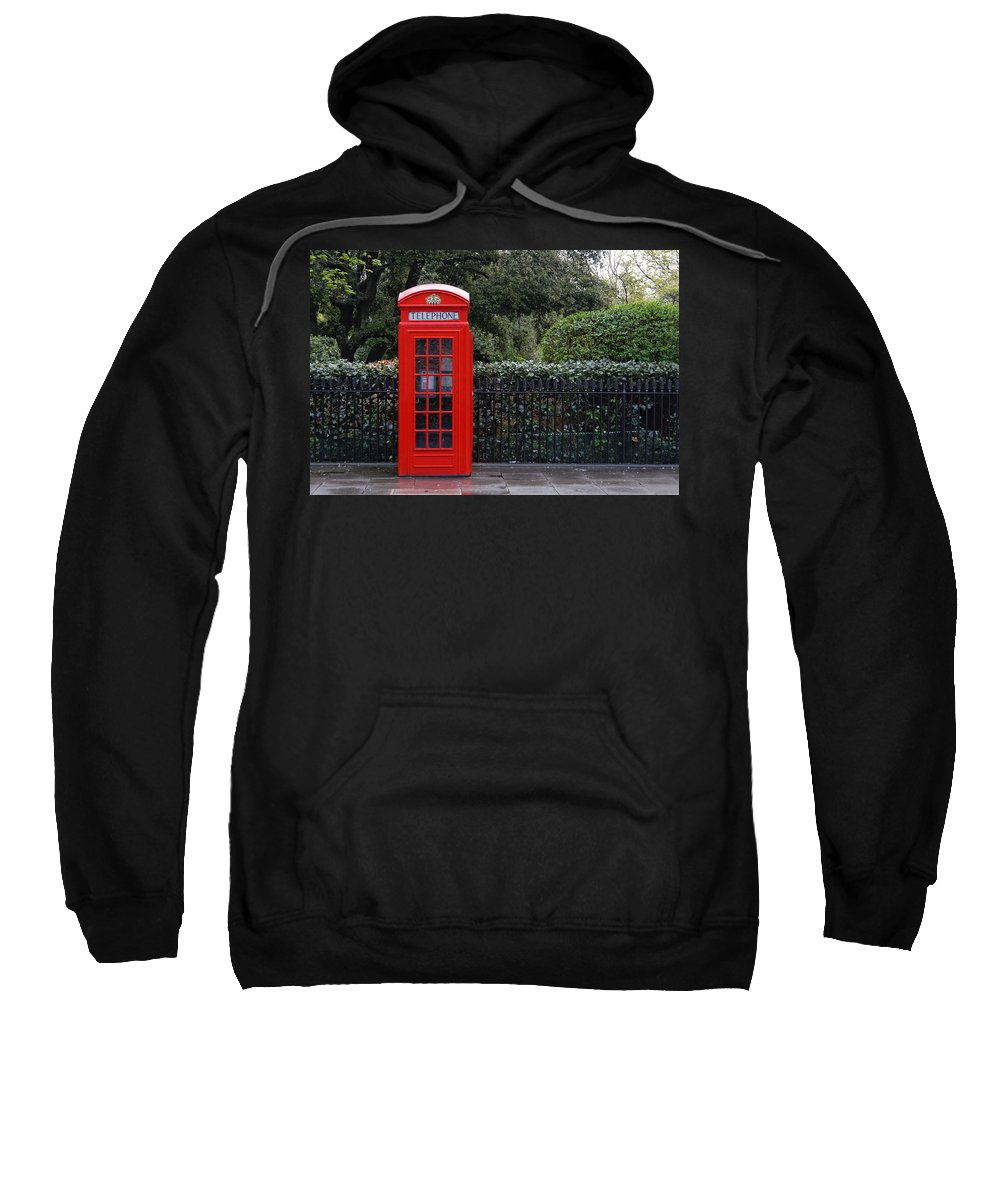 London Sweatshirt featuring the photograph Traditional Red Telephone Box In London by Dutourdumonde Photography