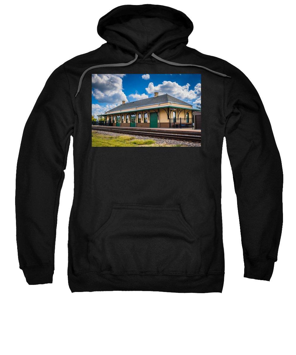 Mineola Sweatshirt featuring the photograph Train Station by Sandi Cintron