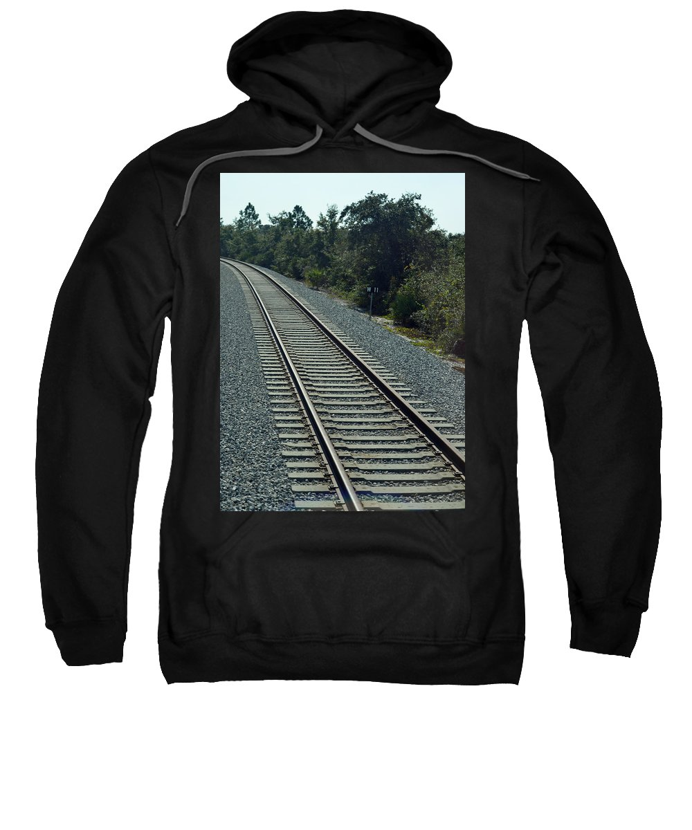 Train Sweatshirt featuring the photograph Train Tracks by Richard Bryce and Family