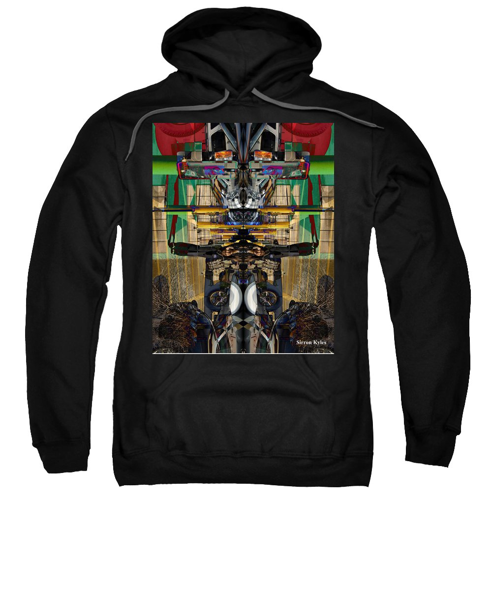 Transformers Sweatshirt featuring the photograph Transformers Transition Hcc Sw Parking Lot by Sirron Kyles