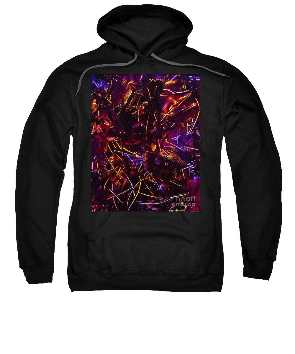 Abstract Sweatshirt featuring the painting Transitions X by Dean Triolo