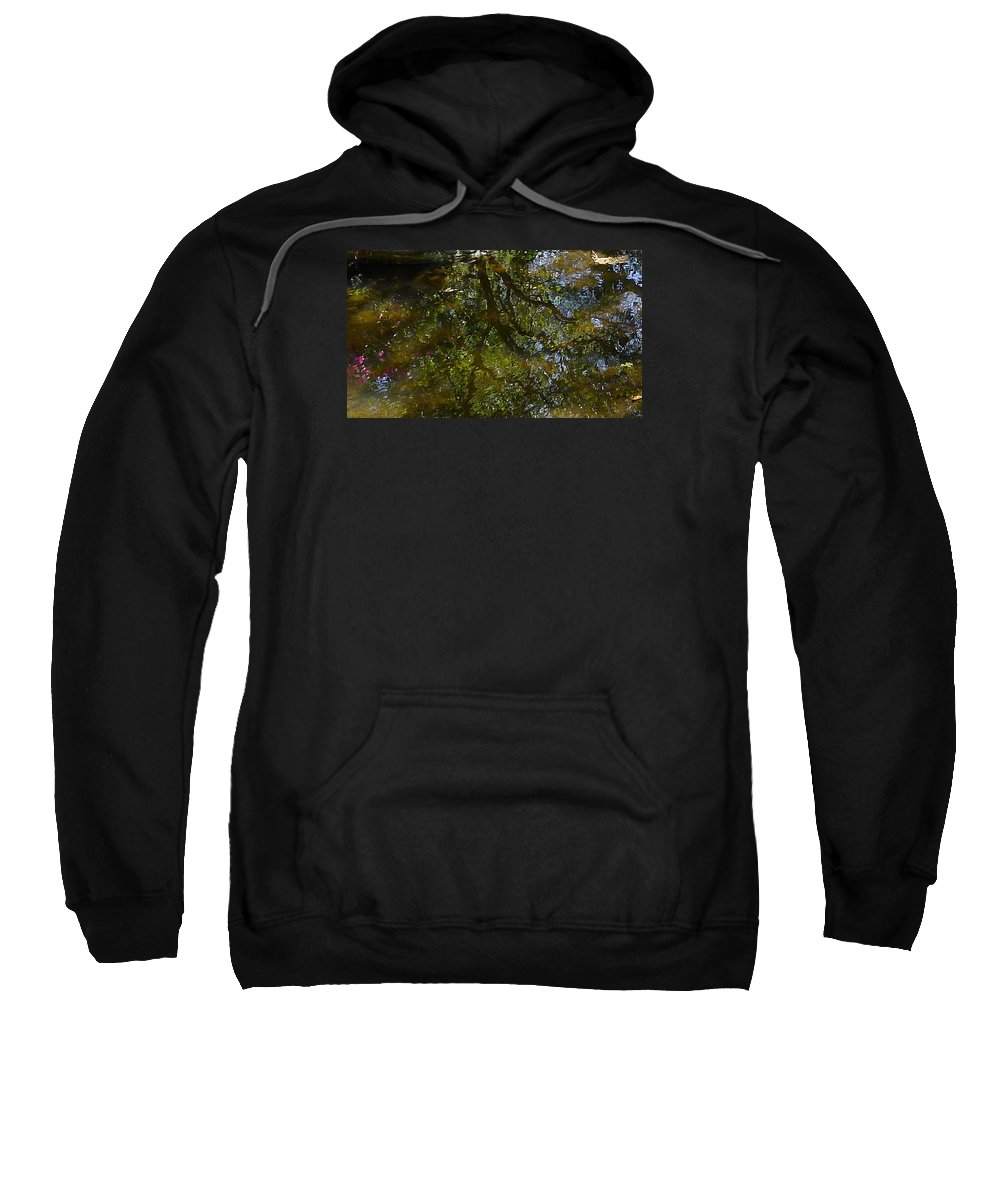 Water Sweatshirt featuring the photograph Tree Reflection by Denise Mazzocco