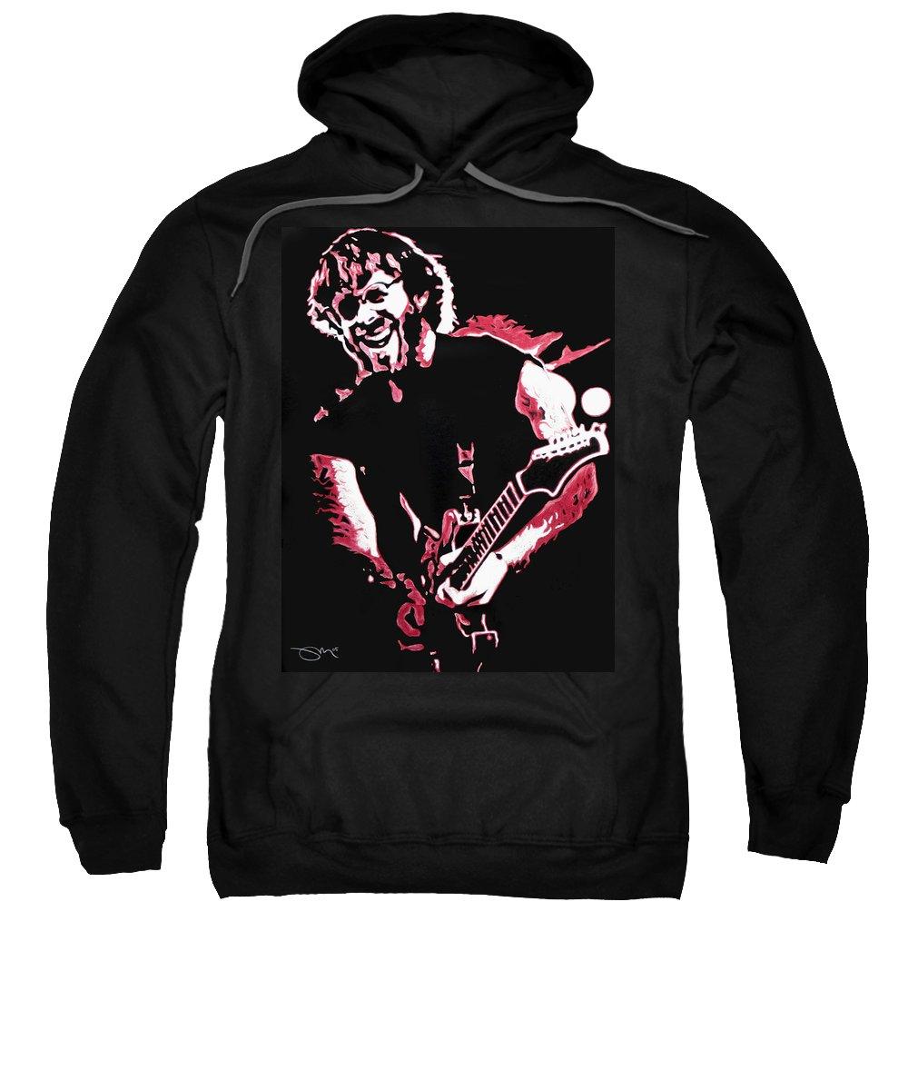 Phish Sweatshirt featuring the drawing Trey Anastasio In Pink by Joshua Morton