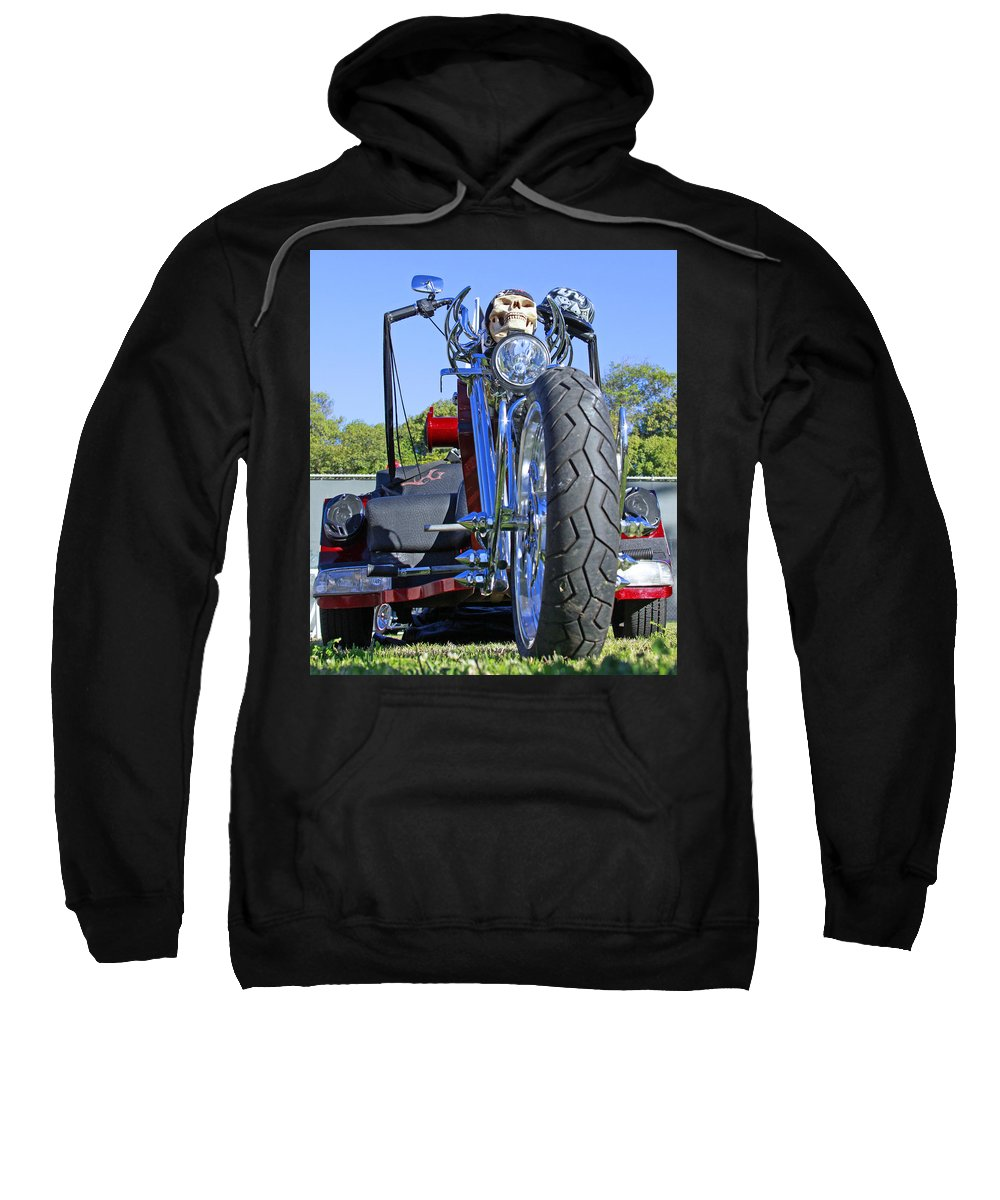 Motorcycle Sweatshirt featuring the photograph Tricycle Of Death by Shoal Hollingsworth