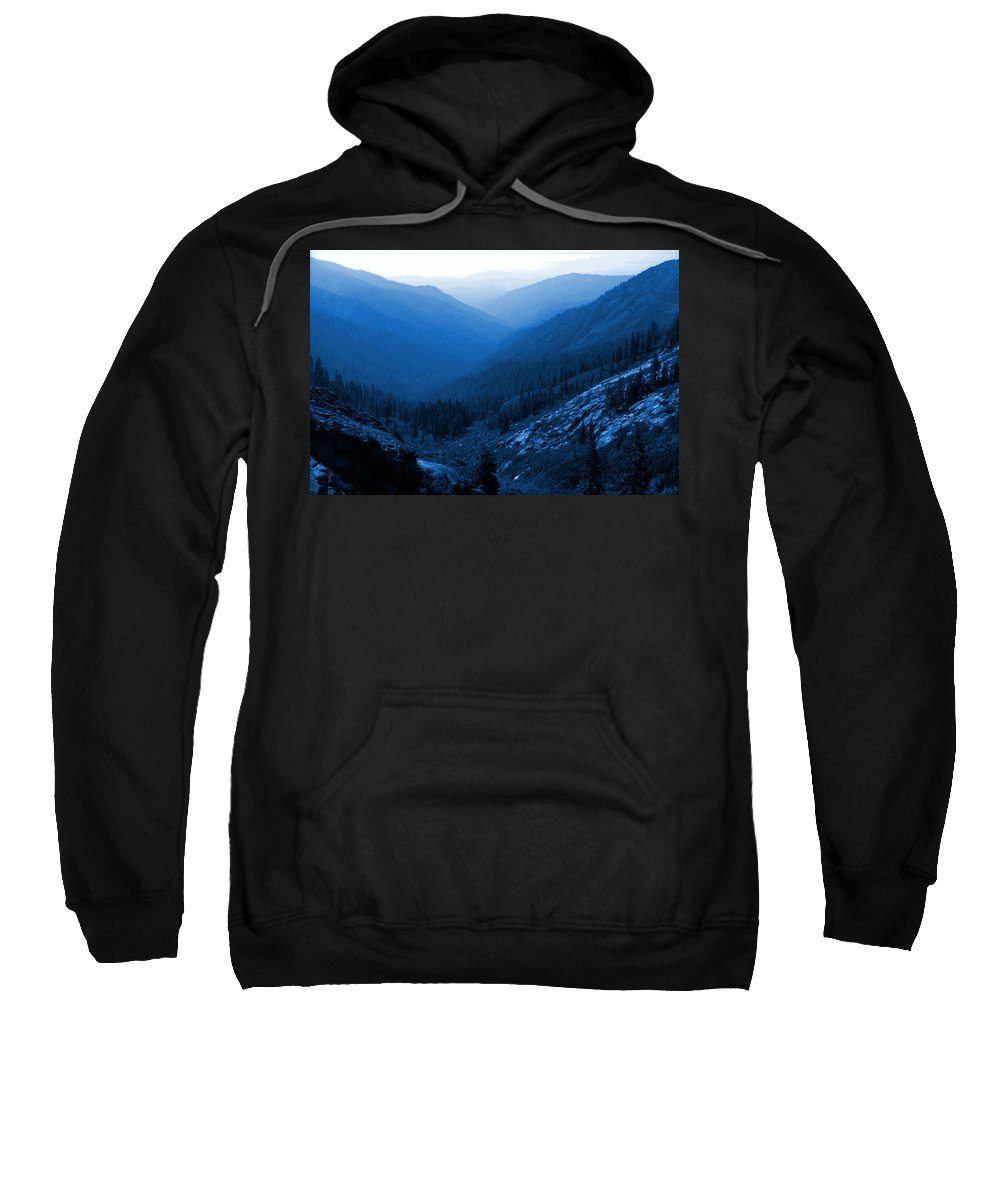 Mountains Sweatshirt featuring the photograph Trinity #2 Enhanced In Blue by Ben Upham III