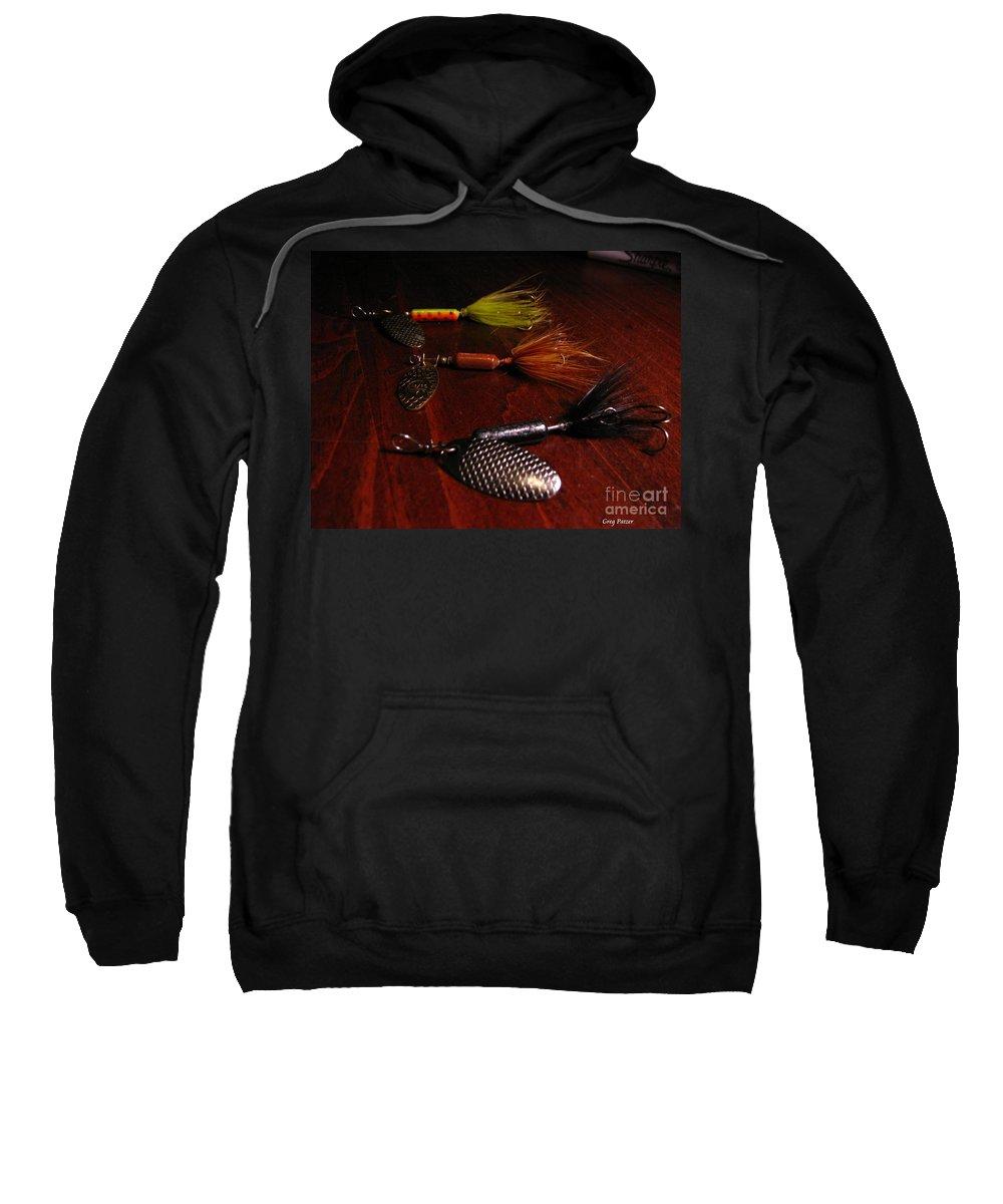 Patzer Sweatshirt featuring the photograph Trout Temptation by Greg Patzer