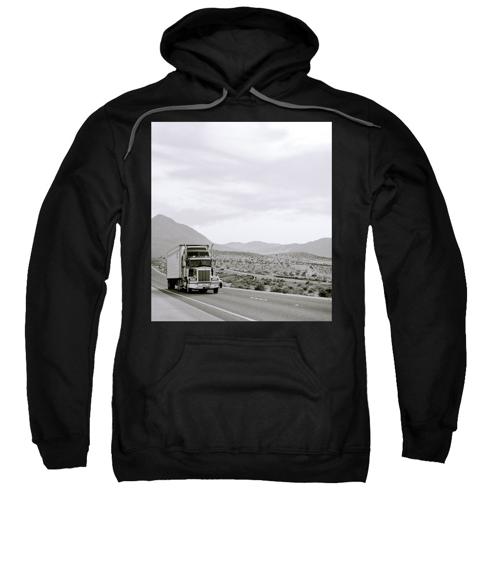 Travel Sweatshirt featuring the photograph Trucking Across America by Shaun Higson