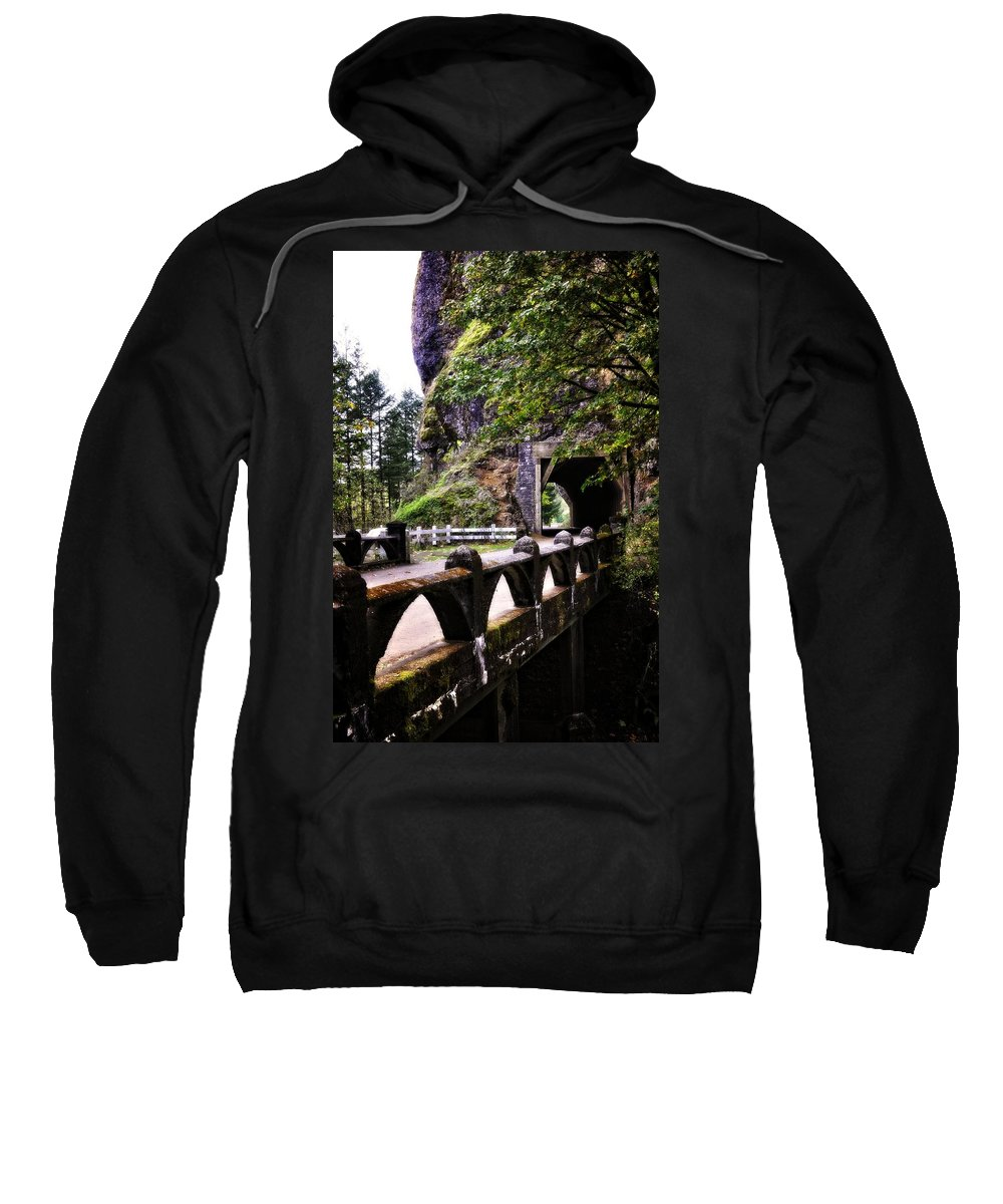 Multnomah Scenic Route Sweatshirt featuring the photograph Tunnel In The Mountain by Image Takers Photography LLC - Laura Morgan