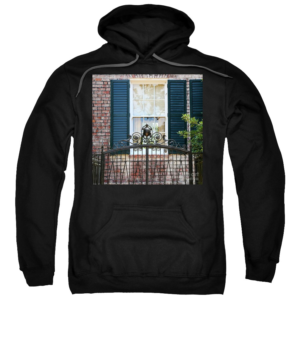 Southern Home Sweatshirt featuring the photograph Turtle Gate by Carol Groenen