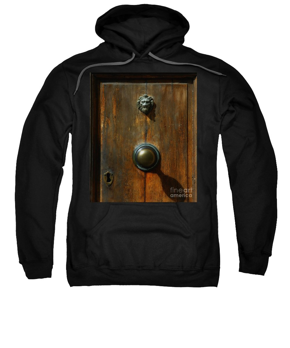 Tuscany Sweatshirt featuring the photograph Tuscan Doorknob by Mike Nellums