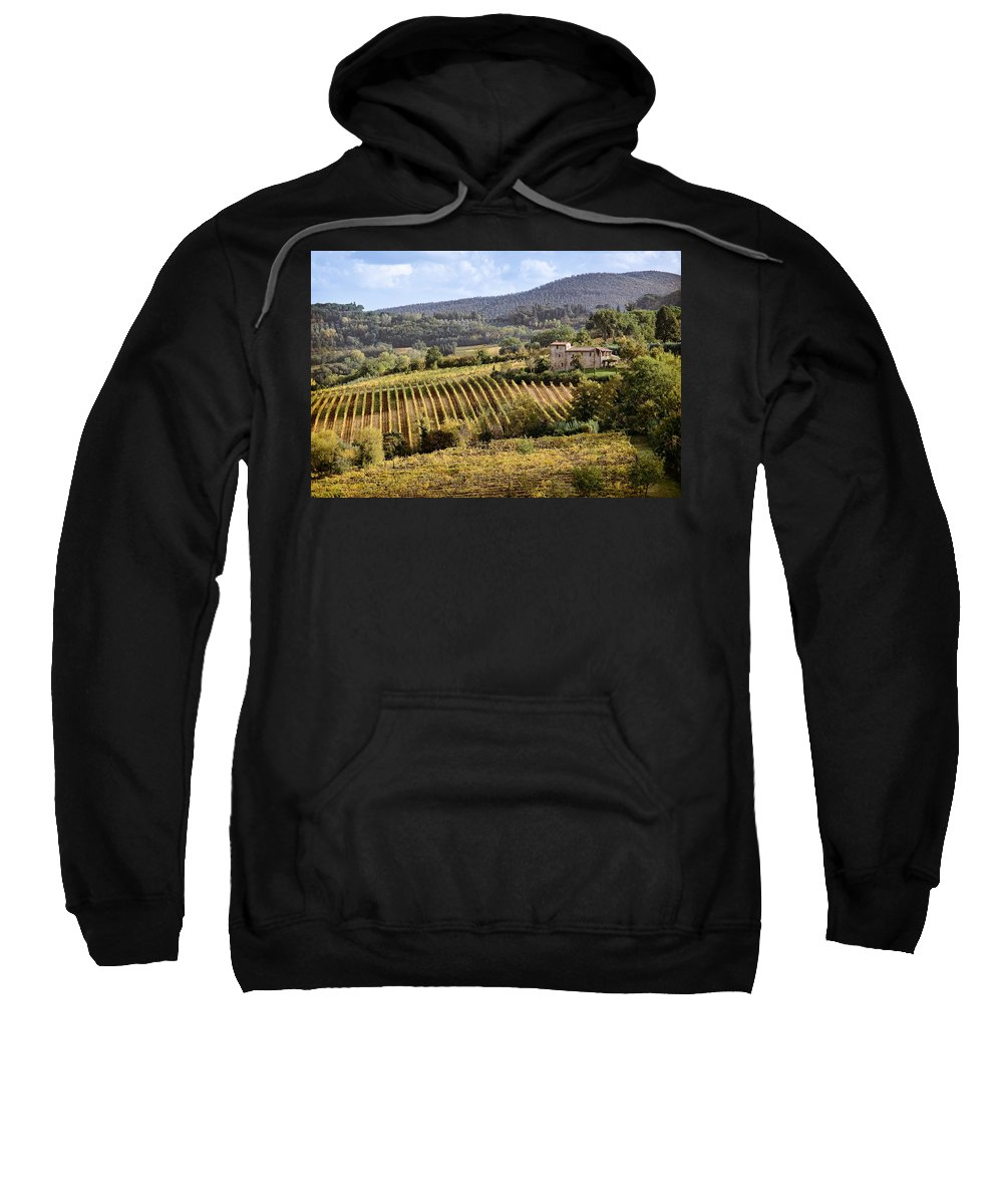 Tuscany Sweatshirt featuring the photograph Tuscan Valley by Dave Bowman