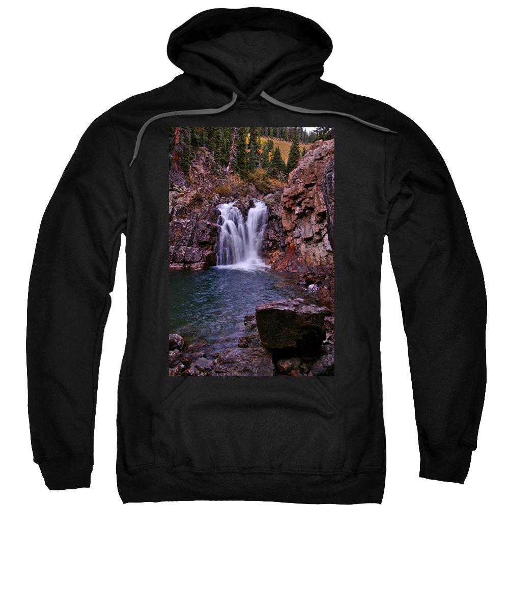 Colorado Sweatshirt featuring the photograph Twilight Falls 2 by Jeremy Rhoades
