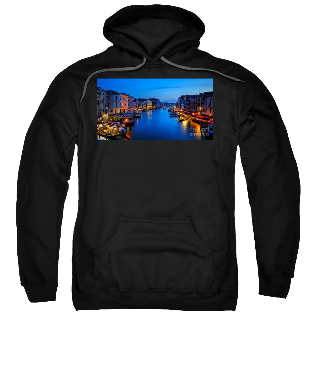 Grand Canal Sweatshirt featuring the photograph Twilight On The Grand Canal by James Anderson