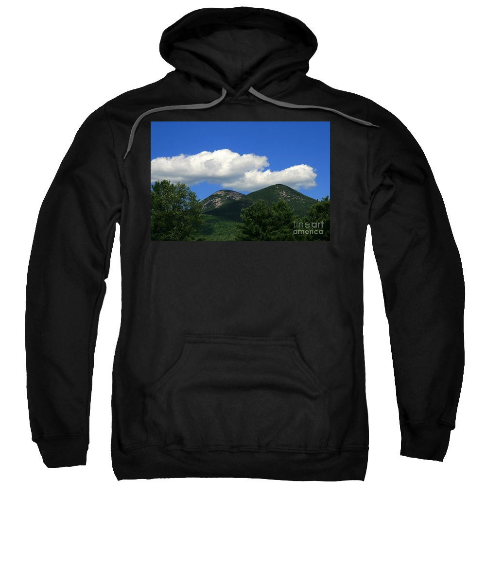 Mountain Sweatshirt featuring the photograph Twin Peaks by Neal Eslinger