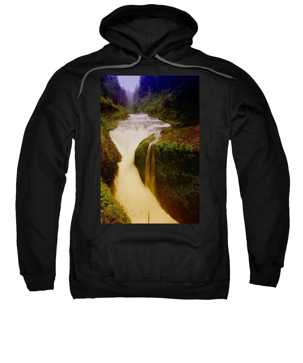 Twister Falls Sweatshirt featuring the photograph Twister Falls by Jeff Swan