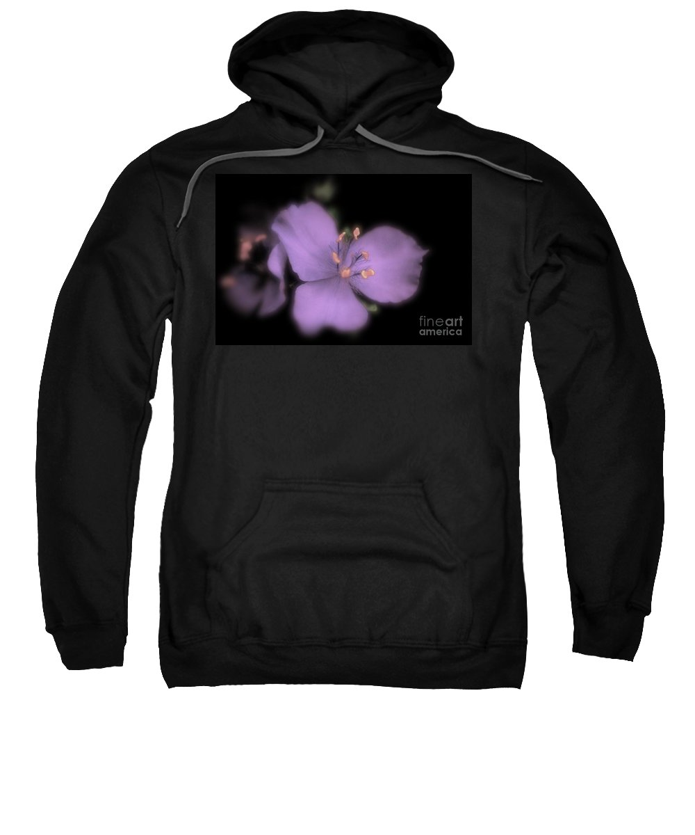 Floral Sweatshirt featuring the photograph Two Faces by Jill Smith