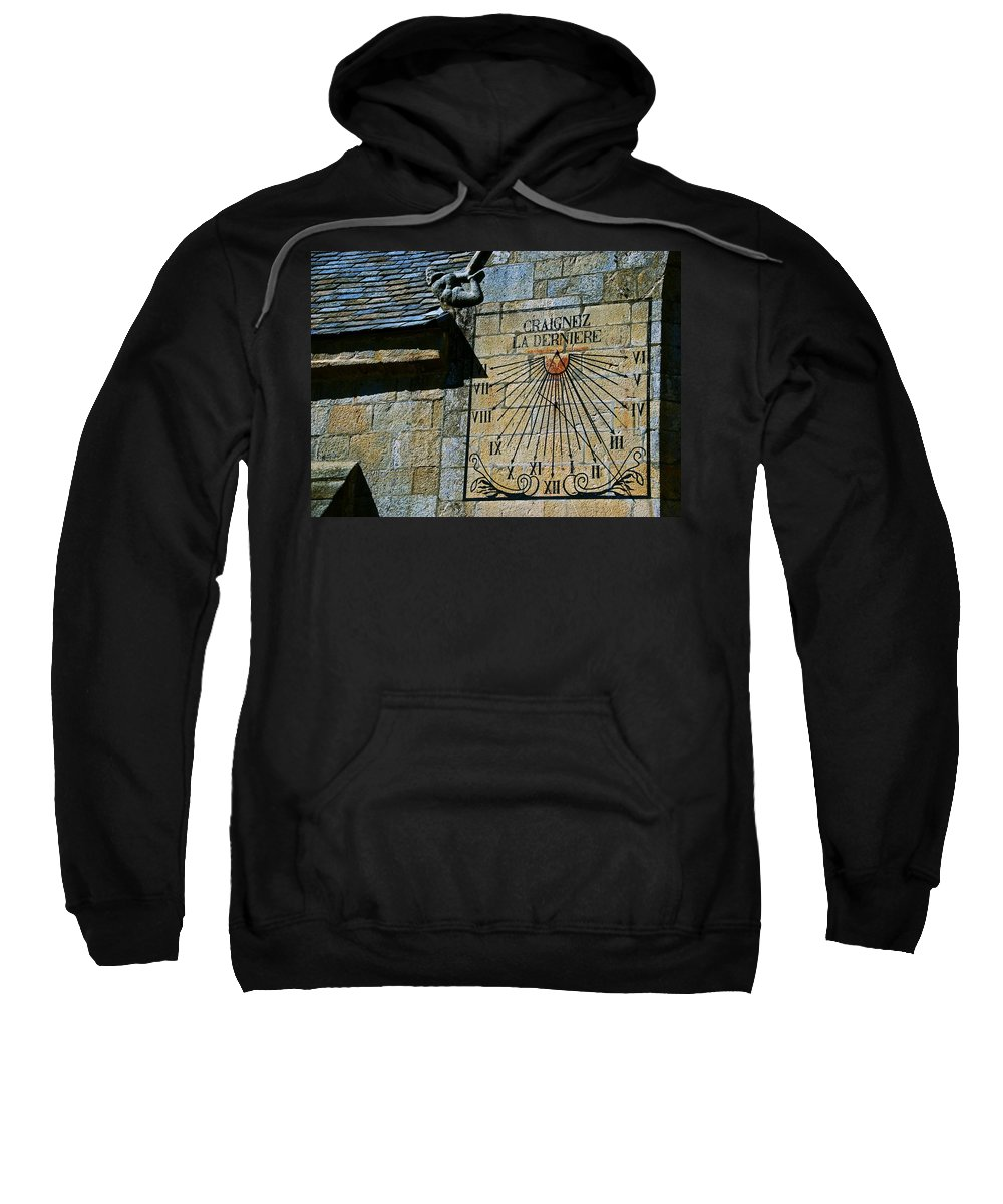 Sundial Sweatshirt featuring the photograph Two-thirty? by Eric Tressler