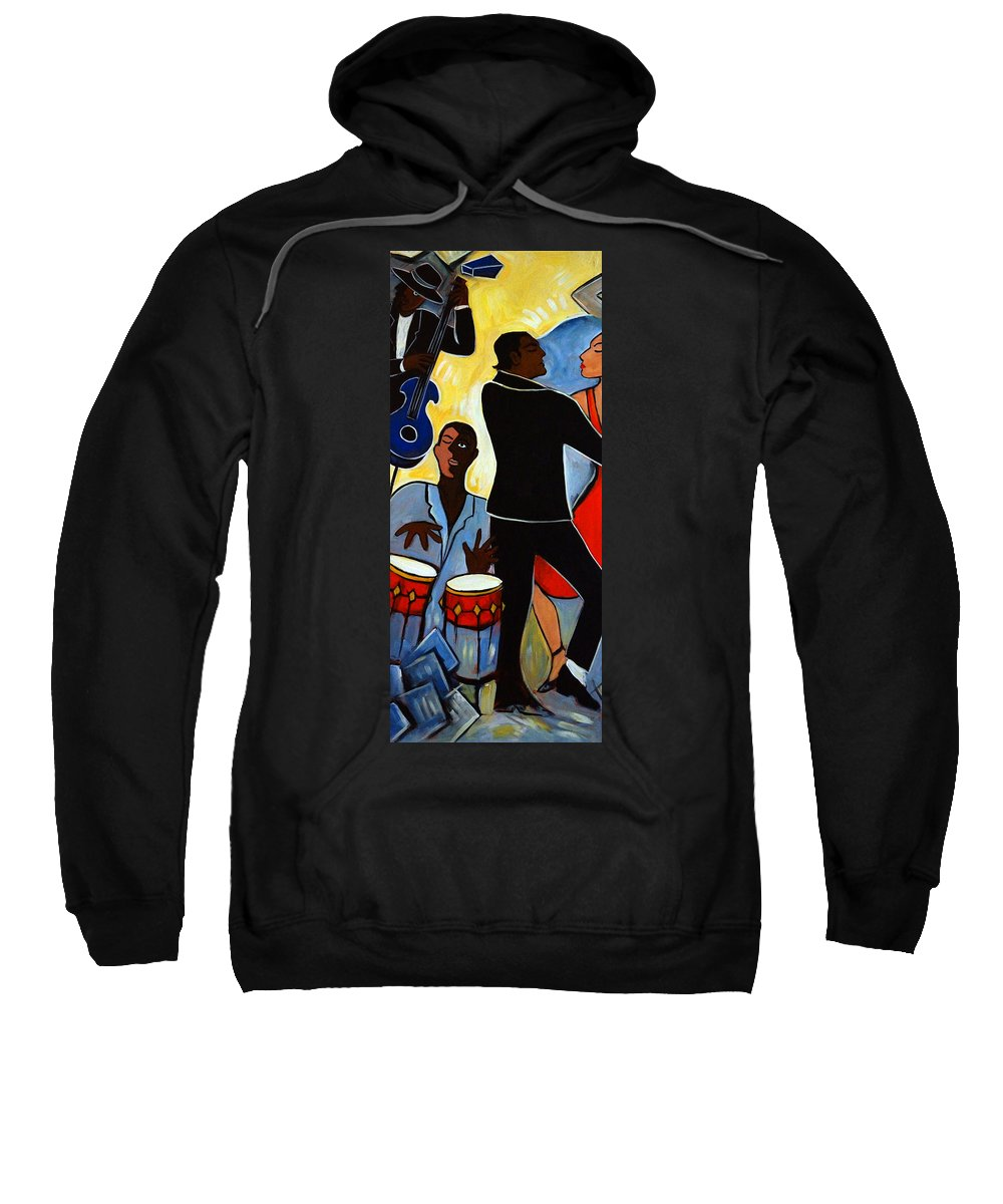 Abstract Sweatshirt featuring the painting Two to Tango 1 by Valerie Vescovi