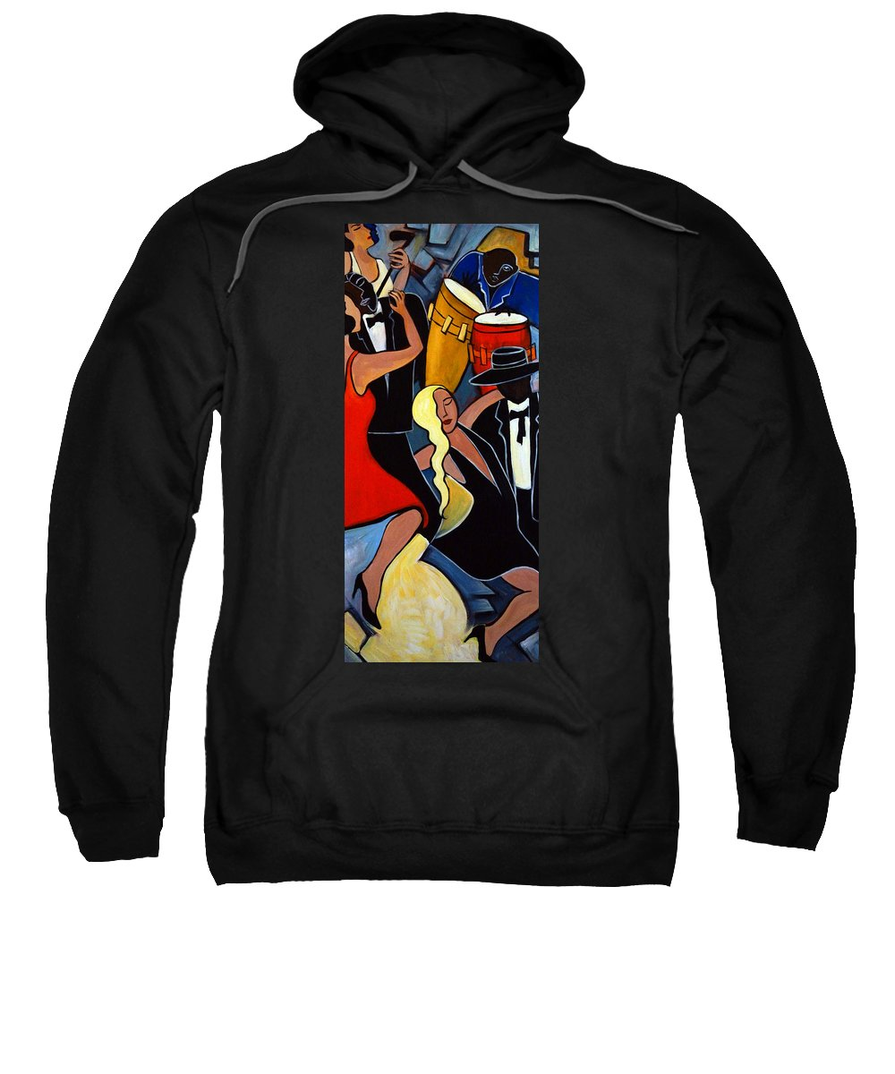 Dancers Sweatshirt featuring the painting Two to Tango 2 by Valerie Vescovi