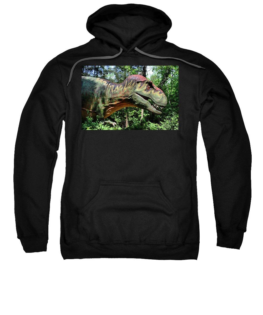 Tyrannosaurus Sweatshirt featuring the photograph Tyrannosaurus Rex T. Rex by Kristin Elmquist