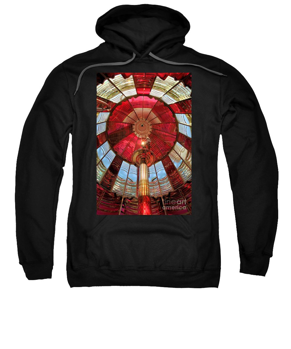 First Order Fresnel Lens Sweatshirt featuring the photograph Umpqua First Order Fresnel by Adam Jewell