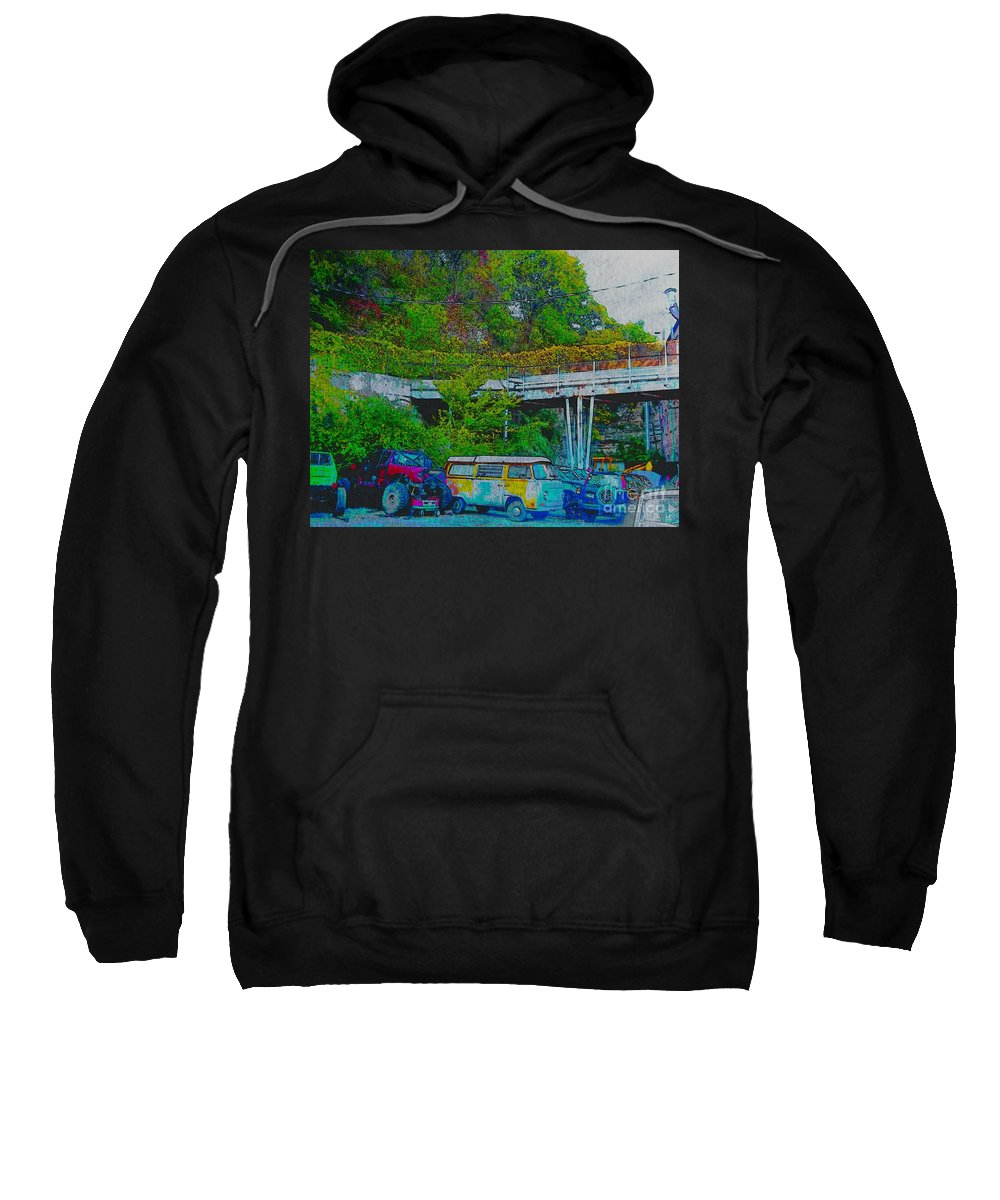 Sweatshirt featuring the photograph Uncle Tom's Toybox Painted 2 by Kelly Awad