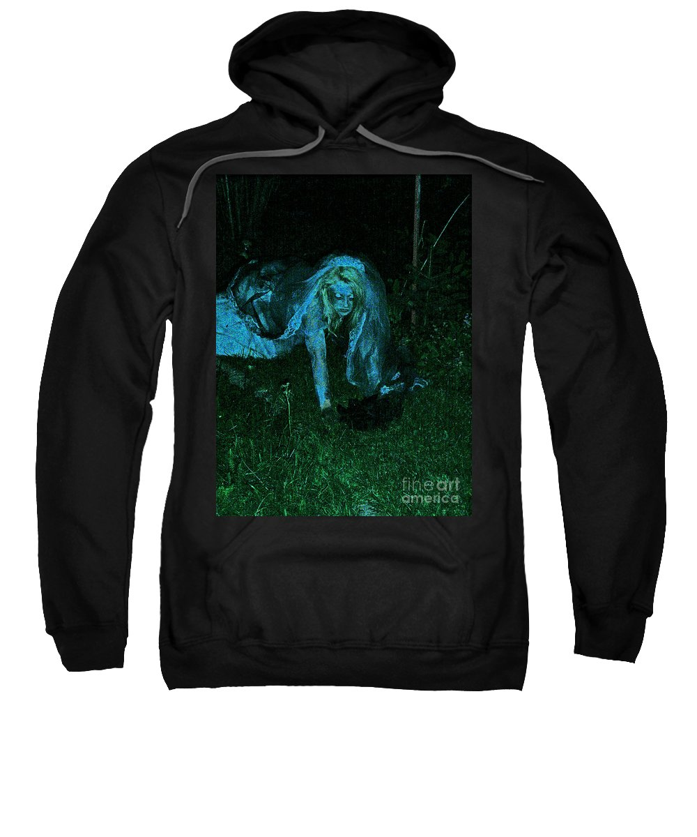 Sweatshirt featuring the photograph Undead Love by First Star Art