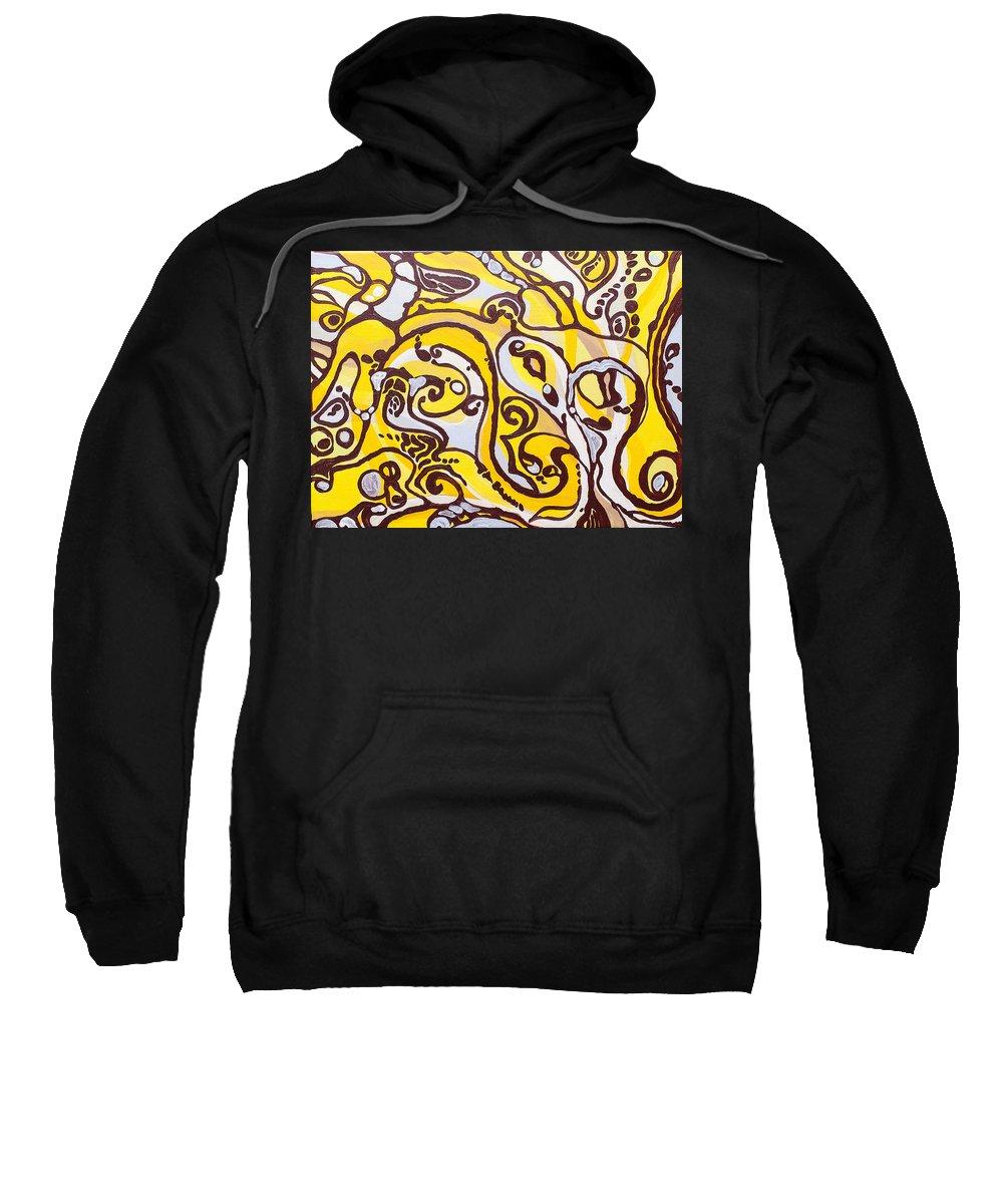 Sea Sweatshirt featuring the painting Underworld by Nevena Moslavac