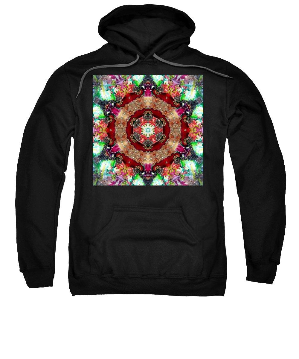Mandala Sweatshirt featuring the photograph Universe by Lisa Lipsett