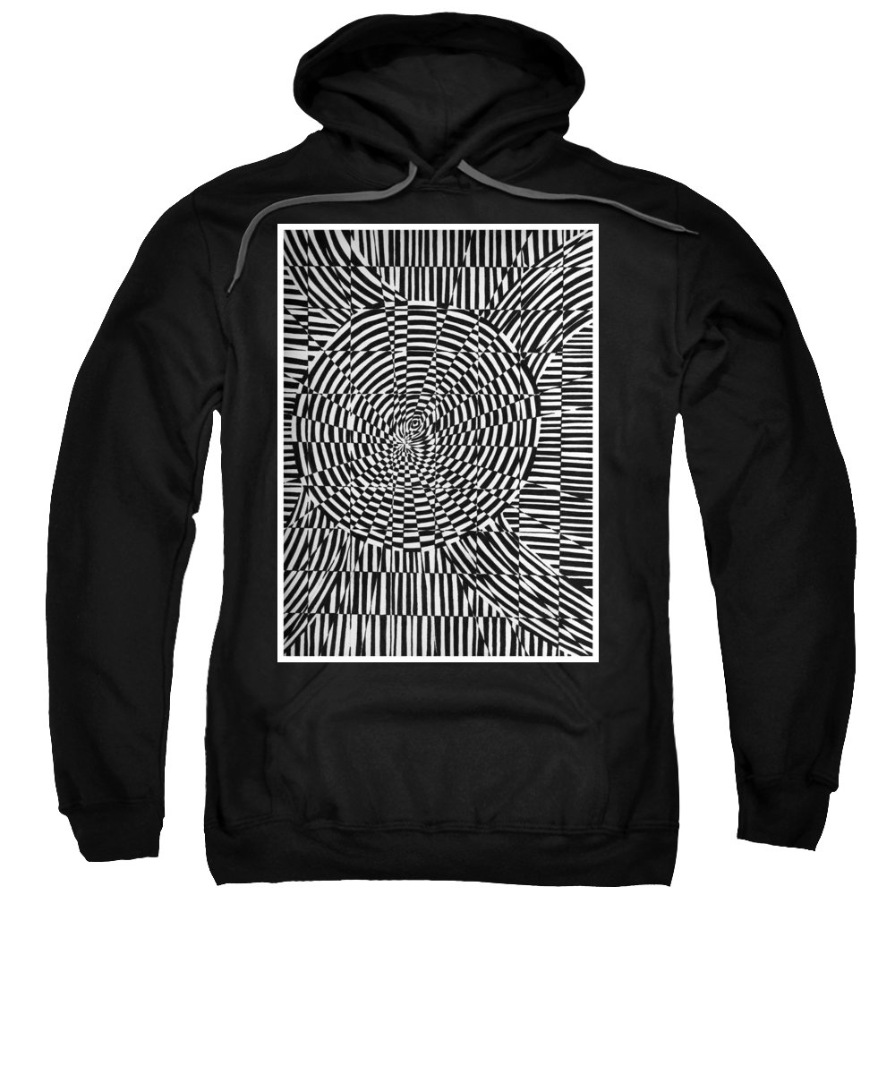 Abstract Sweatshirt featuring the drawing Unraveled by Crystal Hubbard