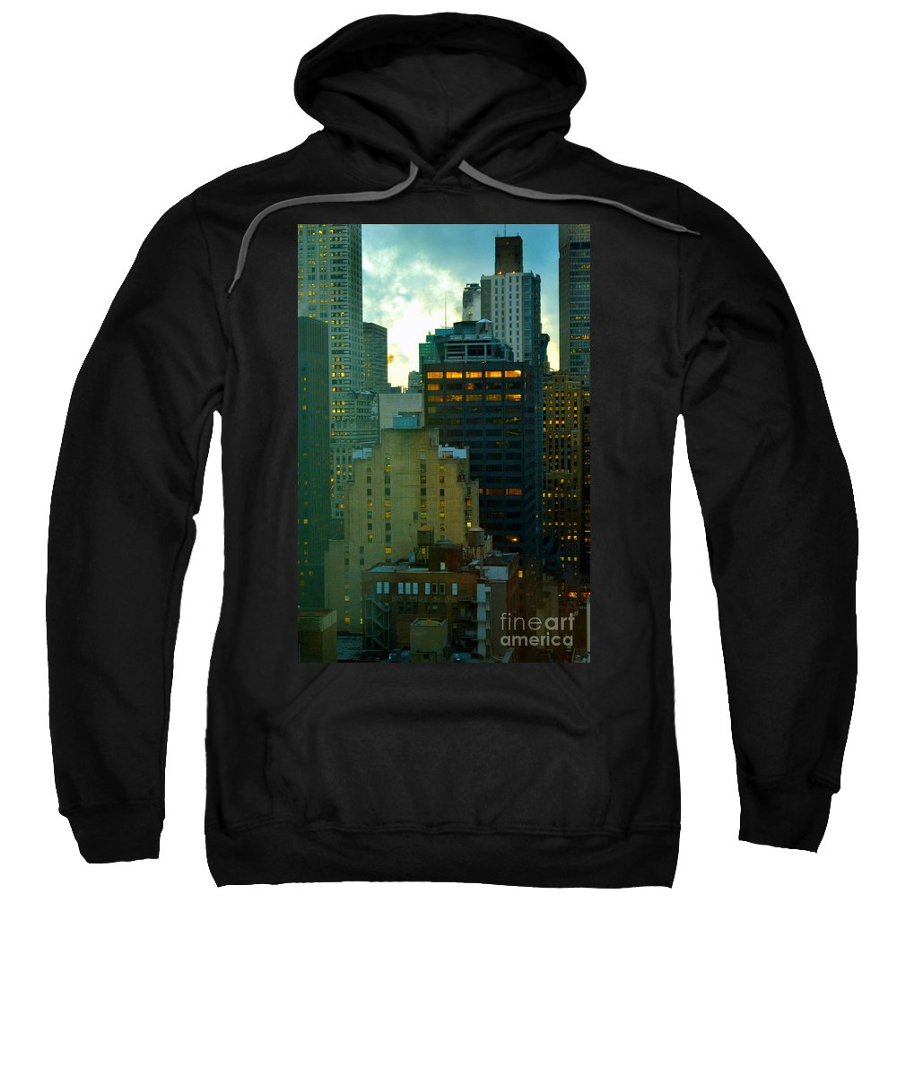New York Skyline Sweatshirt featuring the photograph Up - Skyscrapers Of New York by Miriam Danar