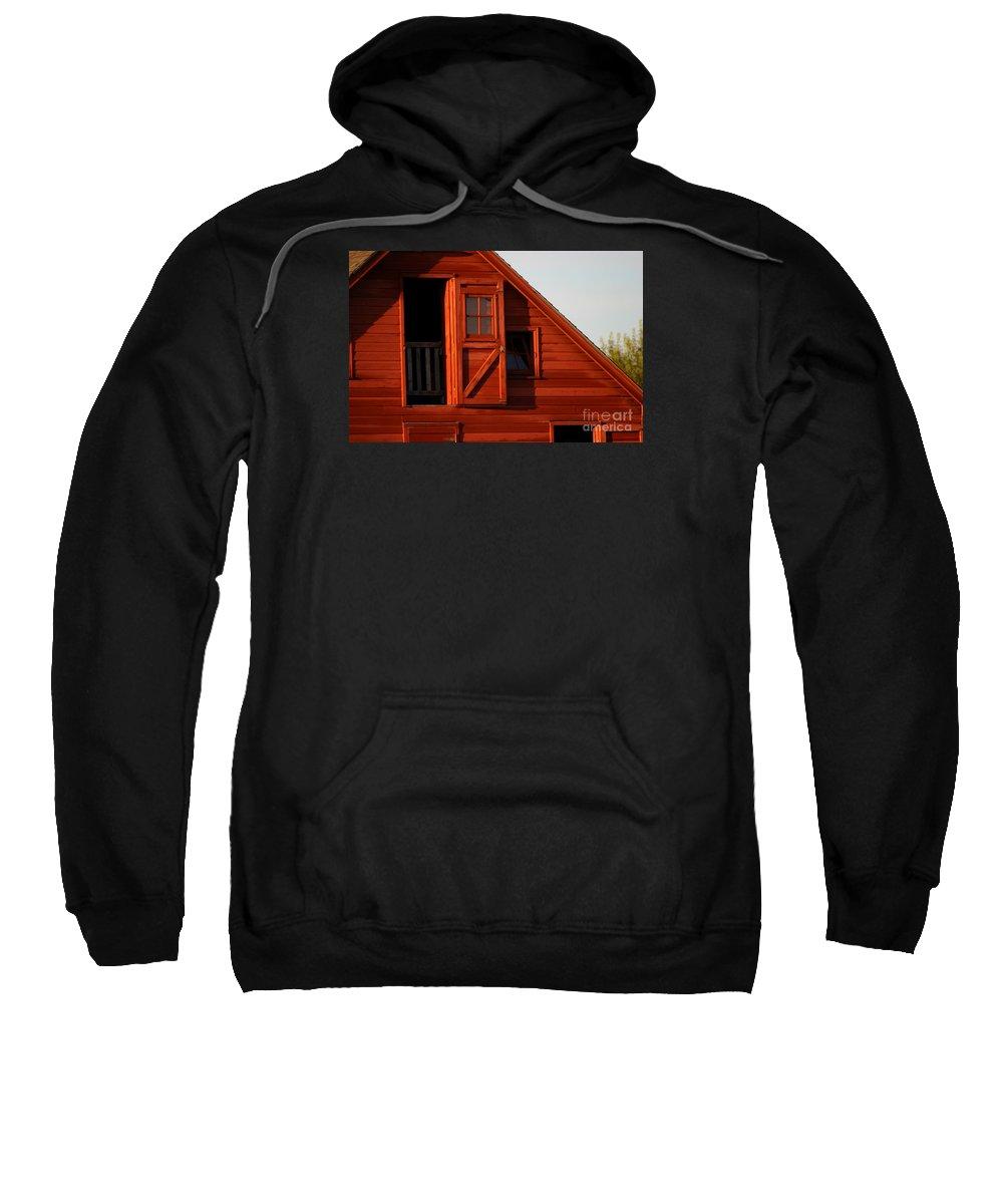 Barn Sweatshirt featuring the photograph Upper Barn Door-3704 by Gary Gingrich Galleries