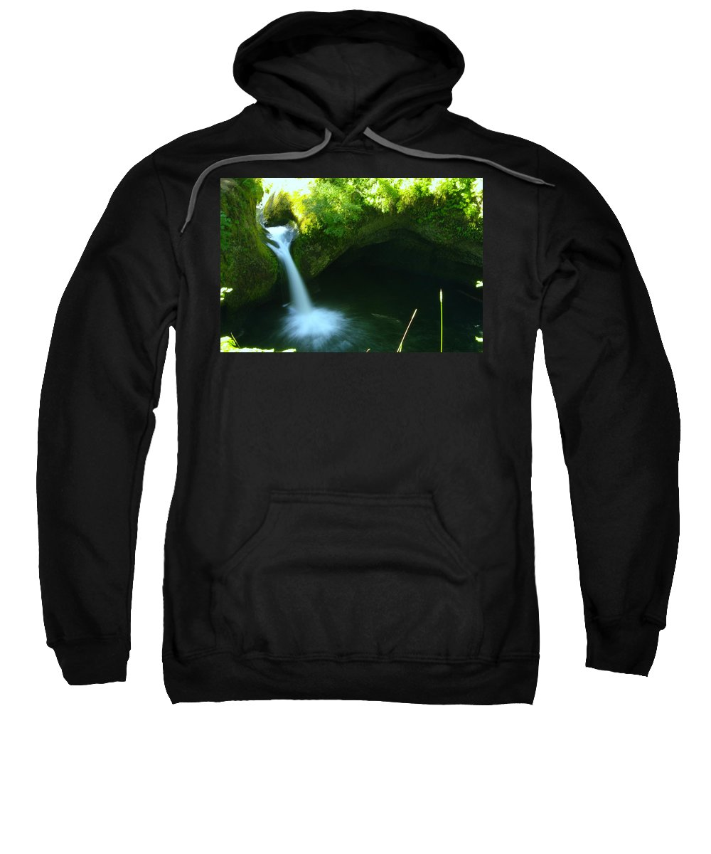 Water Sweatshirt featuring the photograph Upper Punch Bowl Falls by Jeff Swan