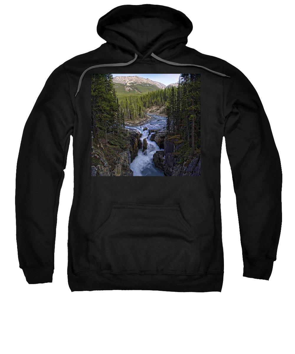 Sunwapta Sweatshirt featuring the photograph Upper Sunwapta Falls - Canadian Rockies by Daniel Hagerman
