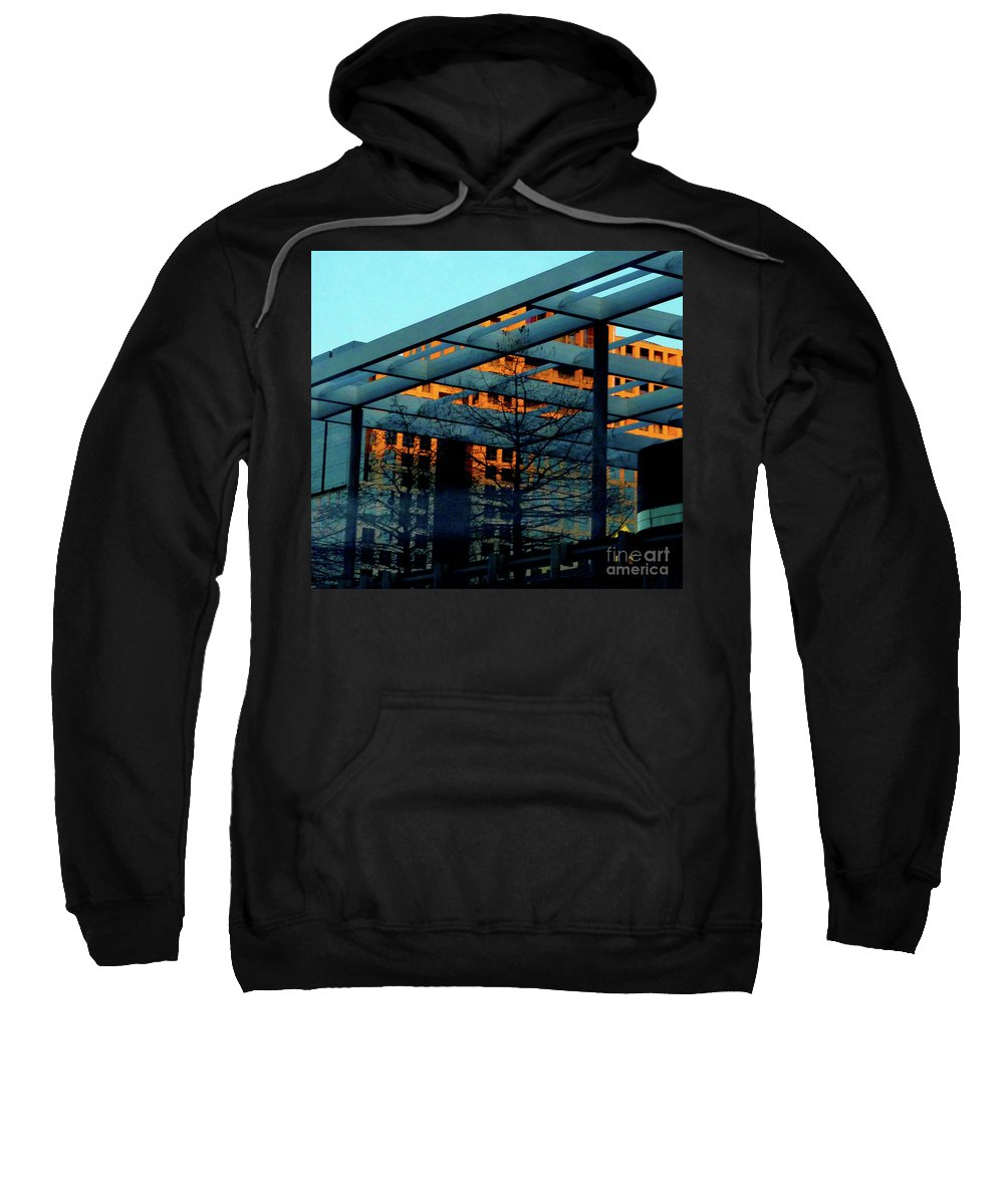 Orange Sweatshirt featuring the photograph Urban Blue by Angela Wright