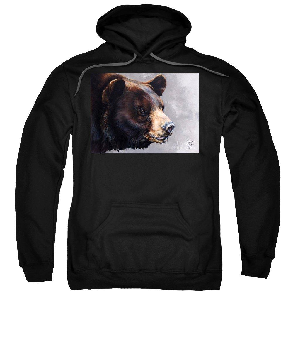 Bear Sweatshirt featuring the painting Ursa Major by J W Baker
