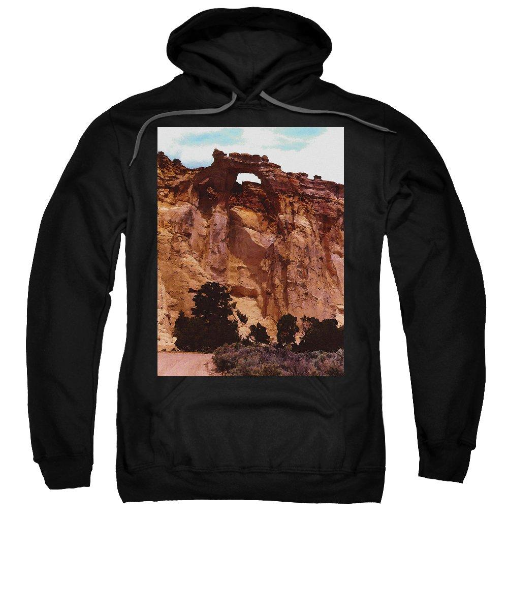 Digital Sweatshirt featuring the digital art Utah Arch by David Hansen