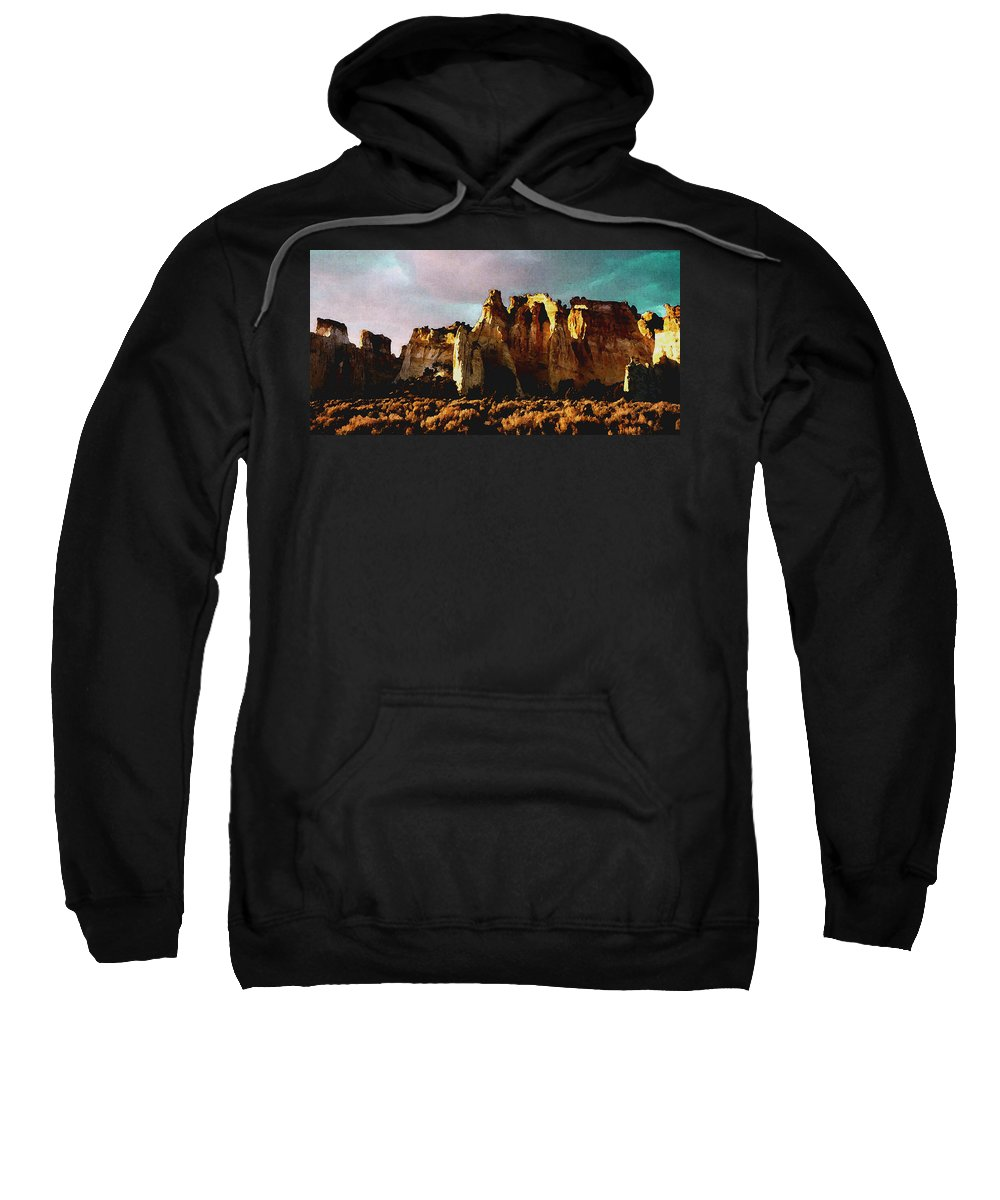 Digital Sweatshirt featuring the digital art Utah Country 1 by David Hansen