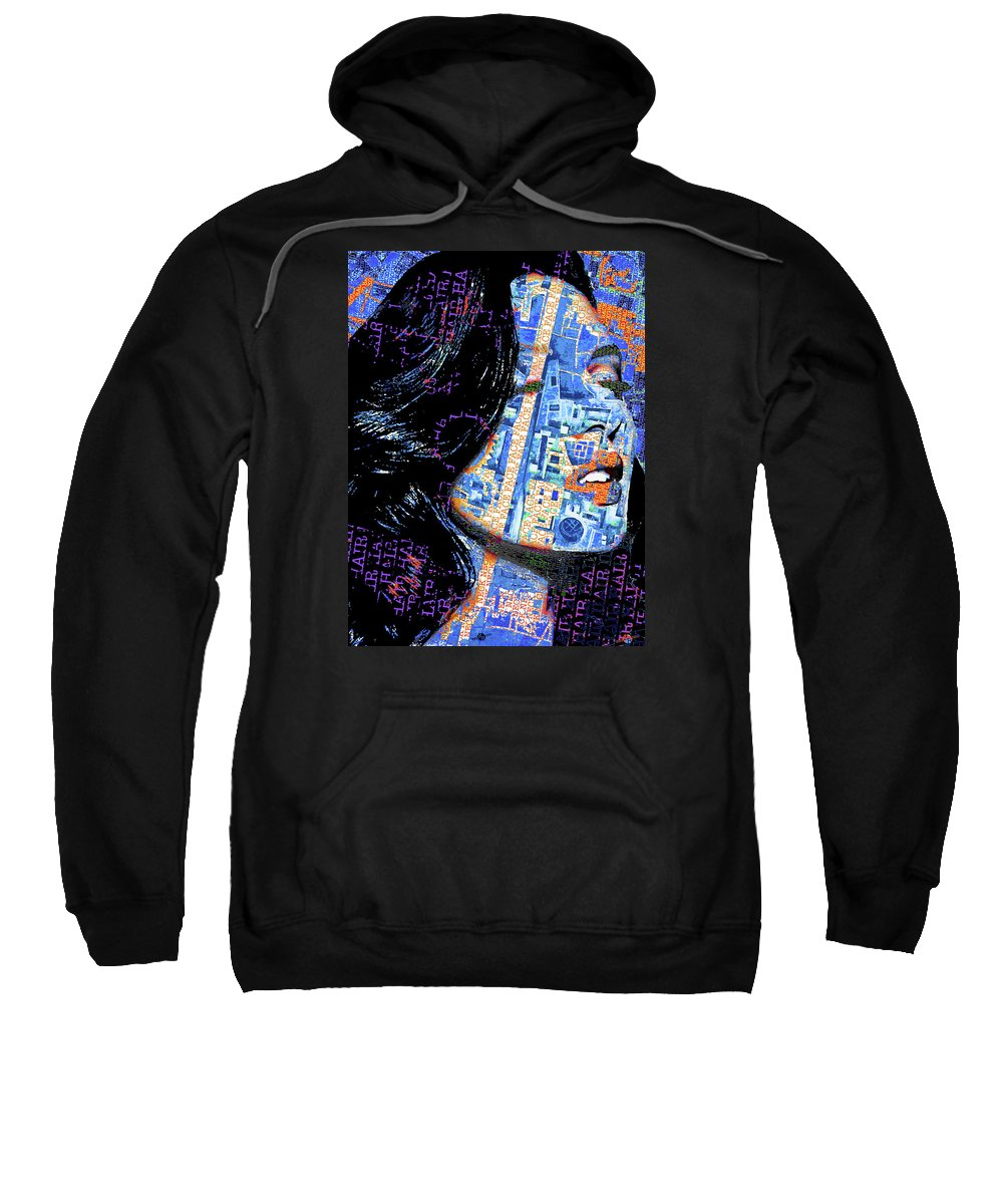 Woman Sweatshirt featuring the painting Vain Portrait Of A Woman by Tony Rubino