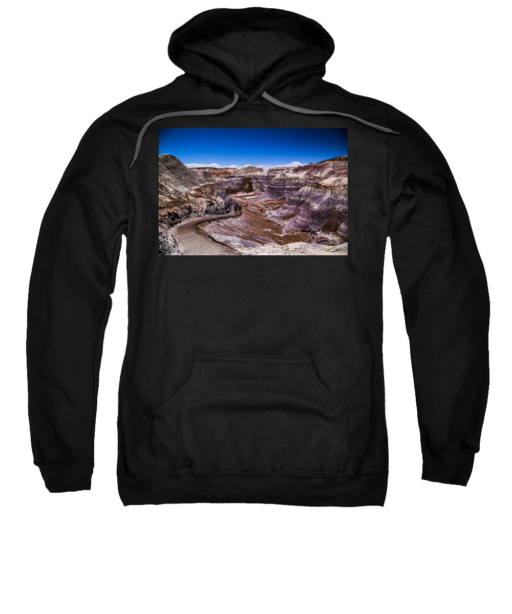 Route 66 Sweatshirt featuring the photograph Valley Path by Angus Hooper Iii