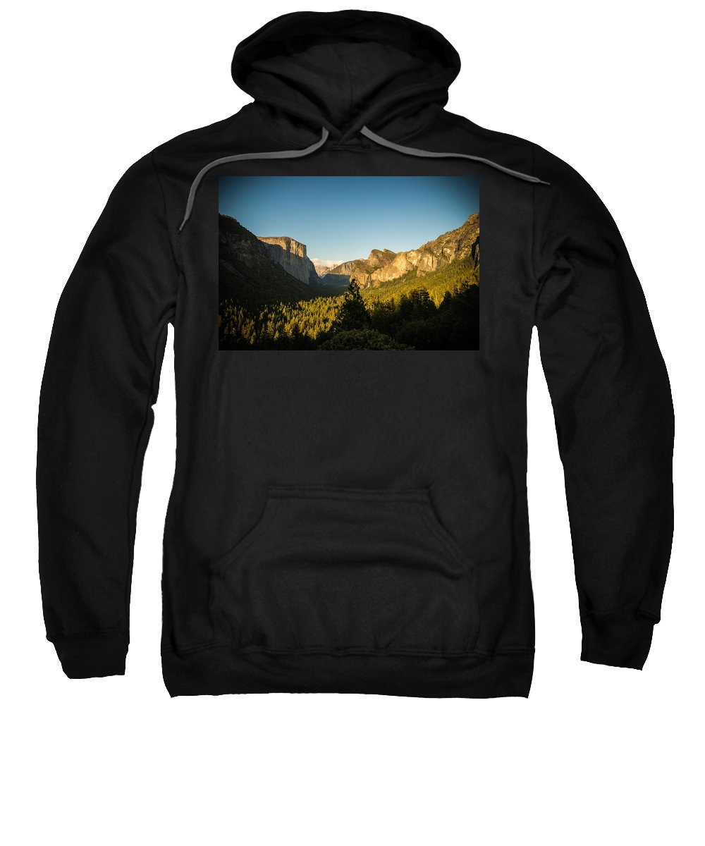 Yosemite Sweatshirt featuring the photograph Valley Setting by Kristopher Schoenleber