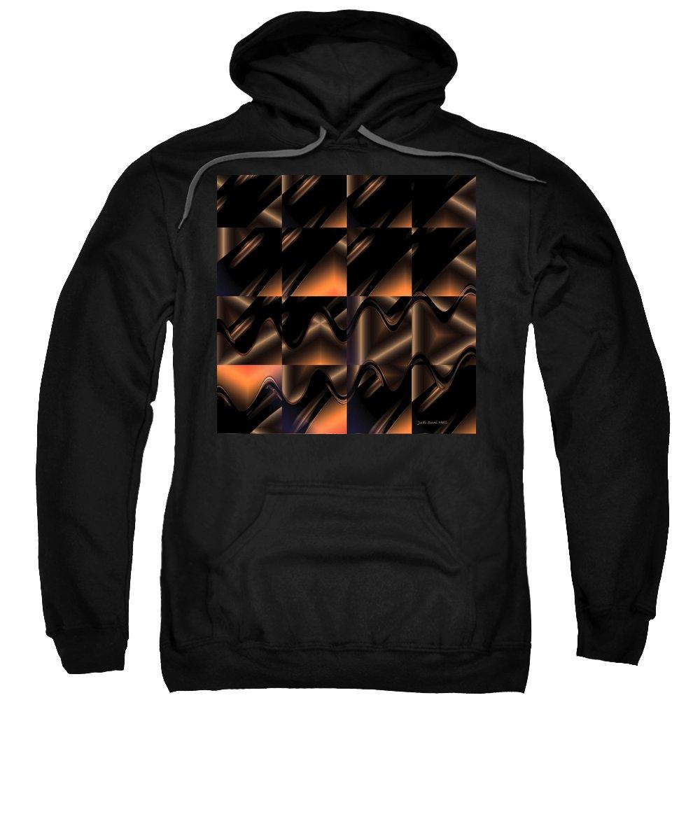 Brown Sweatshirt featuring the digital art Variations In Brown by Judi Suni Hall