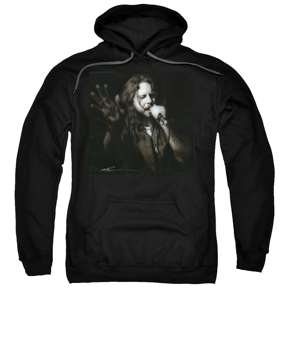 Seattle Sweatshirt featuring the painting Vedder IIi by Christian Chapman Art