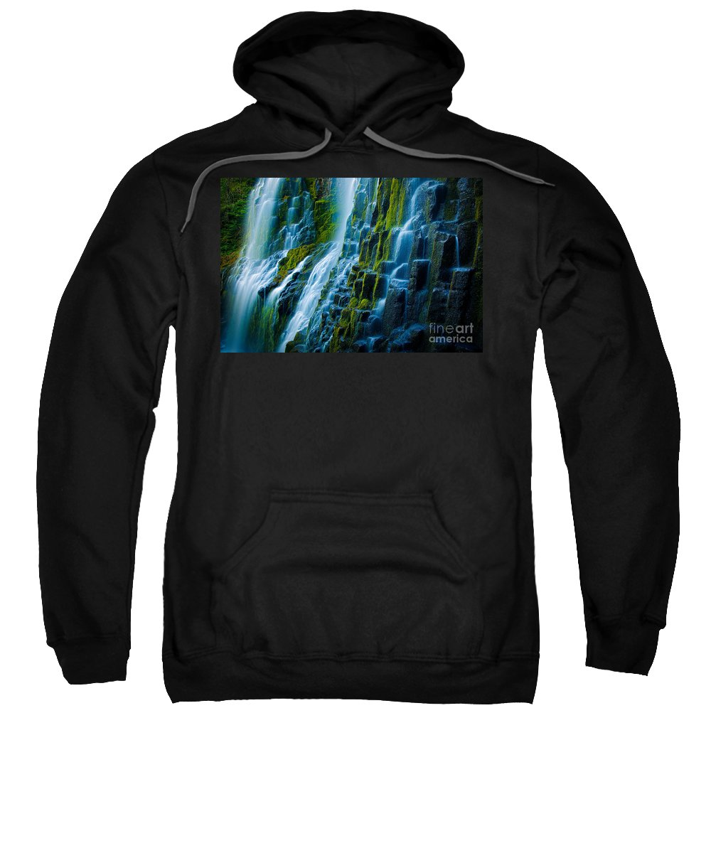 America Sweatshirt featuring the photograph Veiled Wall by Inge Johnsson